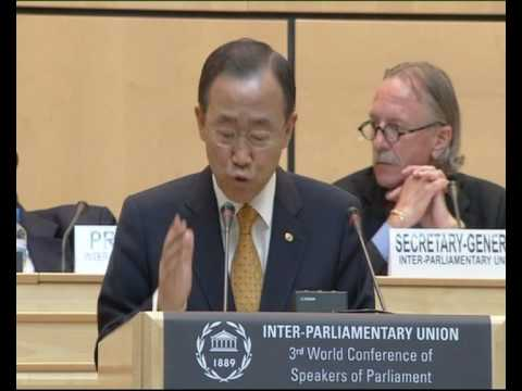 MaximsNewsNetwork: BAN KI-MOON: INTER-PARLIAMENTARY UNION: GREAT CHALLENGES