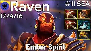 Raven [LOTAC] plays Ember Spirit!!! Dota 2 7.21