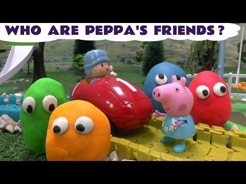 Peppa Pig Frozen Play Doh Surprise Egg Pocoyo Huevo Sorpresa Disney Princess Playdough Surprise Toys