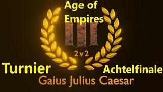 Age of Empires III 2vs2 Turnier Achtelfinale Spiel 3 // T. Rondom vs. T. Falkenmut [Deutsch/HD]