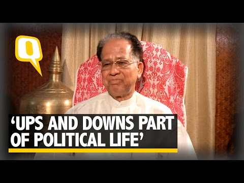 The Quint: Tarun Gogoi Exclusive: Ups and Downs Part of Political Life