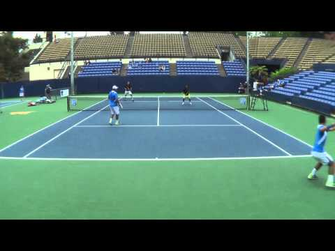 04 13 2013 UCLA Vs Oregon men's tennis doubles