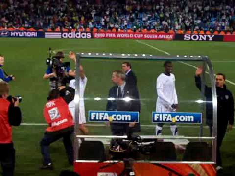 After Game Celebration: USA v Algeria at Loftus Versfeld in Pretoria South Africa on 06.23.2010.
