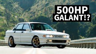 BIG Turbo 500+hp Galant VR-4, AKA the Mitsubishi Evo's Grandfather