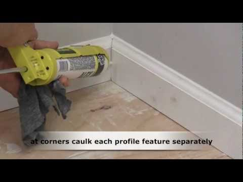 How To Caulk Trim Molding Youtube