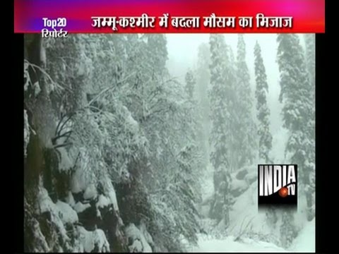Rain, snowfall in Kashmir valley