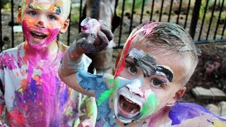 Huge Paint Mess - Paint Time Turned PAINT FIGHT!