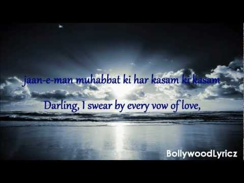 Hum Tumhare Hain Sanam [english Translation] Lyrics video