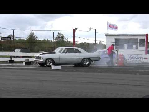 1967 nova street car wheelie and drag racing at spencer speedway route 104 NEW 406 !