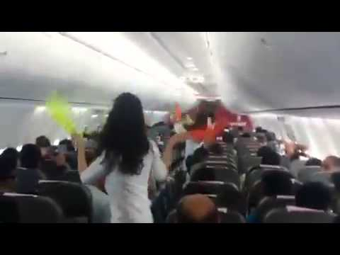 Holi Dance performance in spice jet flight