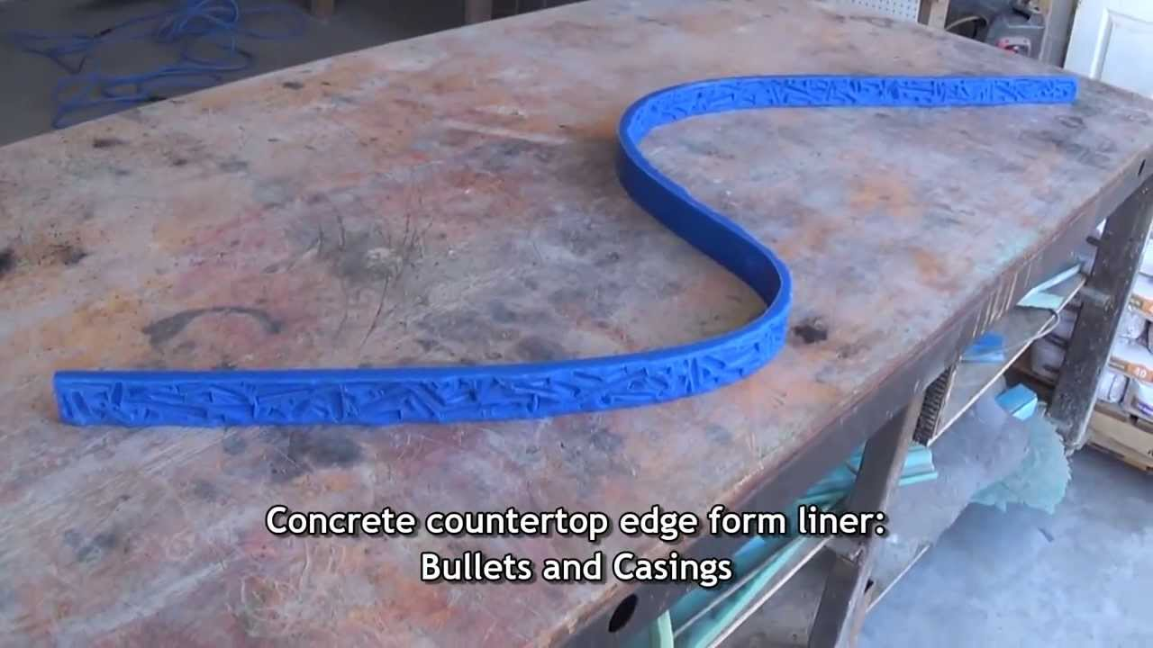 Bullet Edge Concrete Countertop Form Liner Youtube