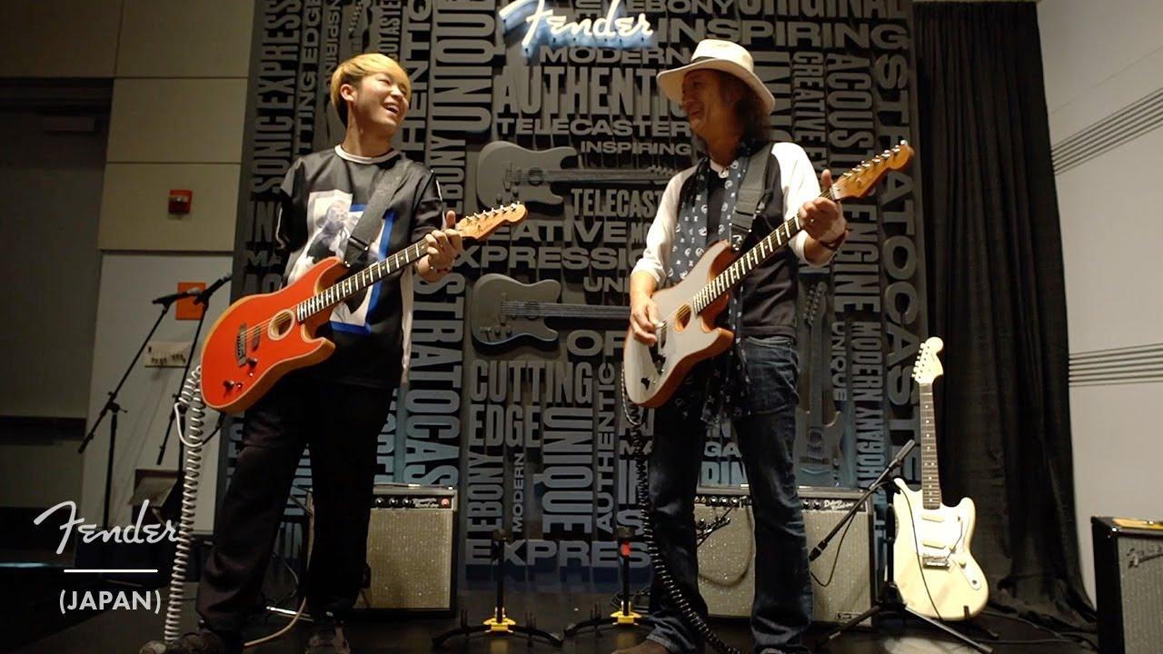 Char x 山岸竜之介 - 「NAMM 2020」Fenderブースからスペシャルステージの映像を公開 (American Acoustasonic Stratocaster使用) thm Music info Clip