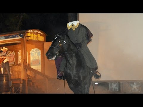 Halloween Chip & Dale at Fort Wilderness Campfire w/ Visit by Headless Horseman, Walt Disney World