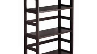 SAVE Winsome Wood 3-Shelf Wide Shelving Unit, Espresso