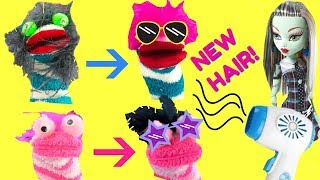 Fizzy & Phoebe's New Hairstyles at Monster High Mobile Hair Salon Bus