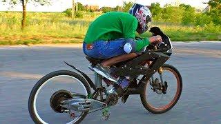 Terrifically Powerful E-Bike Made By Myself / 100 km/h Crazy Speed!