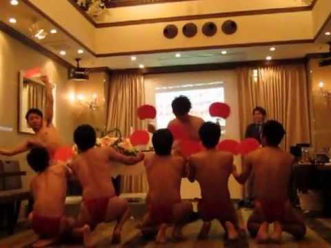 堀田二次会 japanese naked fan dance