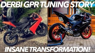 Derbi GPR 125 Tuning Story! - 2017 (INSANE TRANSFORMATION)