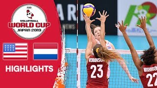 USA vs. NETHERLANDS - Highlights | Women's Volleyball World Cup 2019