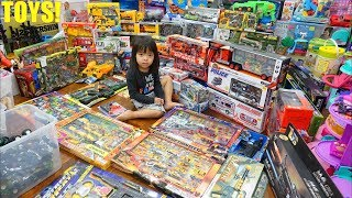 A Lot of TOYS! Toy Guns, Diecast Cars, Toy Soldiers, Car Carrier Trucks, Police Car and More!
