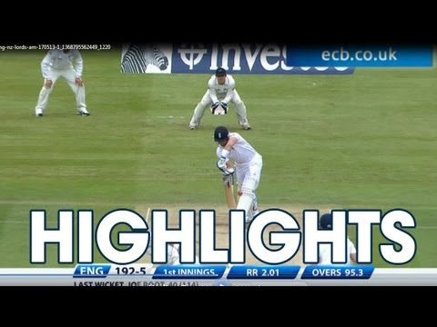 Highlights England v New Zealand - Day 2 Morning Session at Lord's