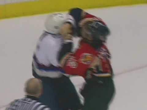 Mattias Ohlund vs Jarome Iginla Apr 11, 2004 Video