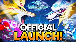 MONSTER QUEST | New *POKEMON LIKE MMO* Official Launch Gameplay!