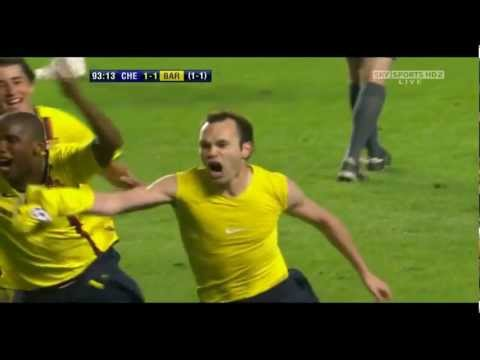 Iniesta Goal Vs Chelsea Slow Motion video