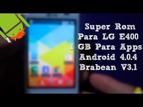Rom Para LG E400 E400F E400G [Instalación review   Sdmerge   Android 4] - CesarGBTutoriales