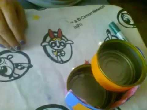 Como aser un cajonsito con latas de atun manualidades - Manualidades faciles con latas ...