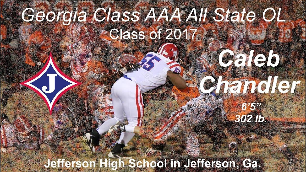 Caleb Chandler – 2017 OL-OT – Jefferson HS, Jefferson, GA (Photo courtesy of Youtube / Jefferson Prospects)