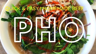 Quick & Easy version of Vietnamese Beef Noodle Soup PHO!