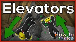 Minecraft: How to make working Elevators!