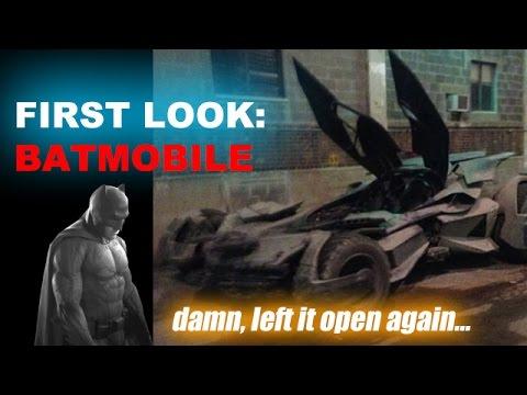 Batmobile Set Photos! Batman v Superman Leaked Photos Today! - Beyond The Trailer