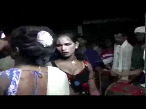Andhra Village Young Girl Desi Romantic Recording Dance On Stage.5 5 video