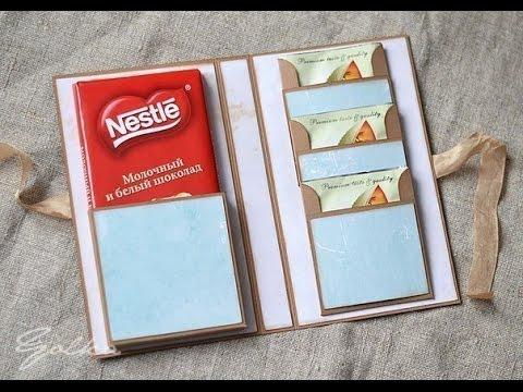 Как упаковать шоколадку своими руками видео