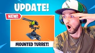 Fortnite's NEW Mounted TURRET!