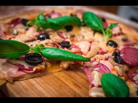 Пицца на тонком тесте + кальцоне
