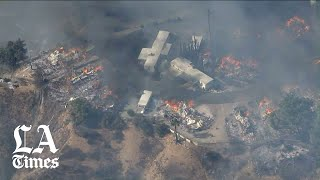 Several fires burning, homes lost in Southern California