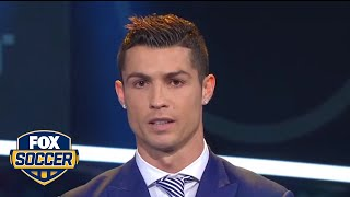 Cristiano Ronaldo wins best FIFA men's player of 2016 | @TheBuzzer | FOX SOCCER