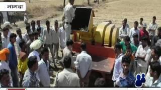 खेत पर थें्रसर मशीन से किसान की हुई मौत