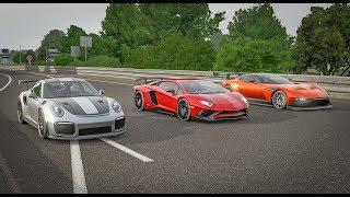 Forza 7 Drag Race - Lamborghini Aventador SV vs Aston Martin Vulcan vs Porsche 911 GT2 RS!!!