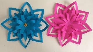 PAPER FLOWERS. PAPER HANDBOOKS. Paper flower. Preschool Crafts, Preschool Ideas.