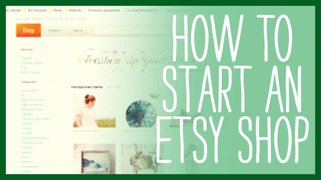 how to sell on etsy how to start an etsy shop youtube. Black Bedroom Furniture Sets. Home Design Ideas