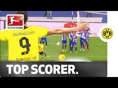 Top Goalscorer Lewandowski signs off with Wonder Free Kick