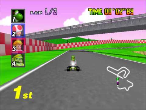 Mario Kart 64 - Racing the STAR CUP Extra (Nigcatt) - User video