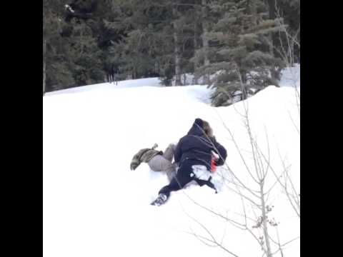 Rihanna in Aspen in the snow