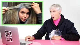 HAIRDRESSER REACTS TO HAIR BLEACHED 3 TIMES IN 1 DAY