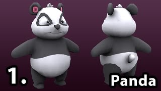 Low Poly Character Modeling | Panda | Part 1.  | Low Poly Animal | 3D Tutorial
