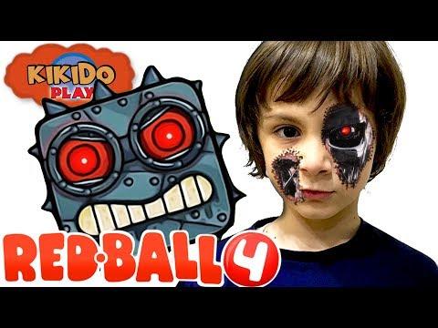 🔴 КРАСНЫЙ ШАРИК VS БОСС ТЕРМИНАТОР 🤖 Видео для детей Прохождение RED BALL 4  Кикидо плей